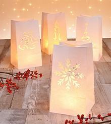8X lampionów Boże Narodzenie dekoracja dekoracyjny świeczkę torebka torebka na świecę-lampion Candle Bag