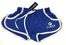 Flexz Fitness Ibiza Beach Workout spodenki gimnastyczne, spodnie dresowe spodnie dla Bodybuilding, festiwal Rugby Shorts, niebieski, m SShorts_M_Blue