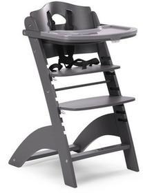 Childhome Krzesełko drewniane do karmienia dla niemowląt Lambda 2 - antracyt - Childhome LAMBDA 2 ANTRACYT