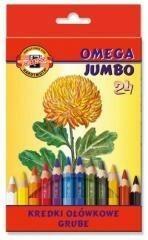 Koh-I-Noor Kredki Omega Jumbo 24 kolory