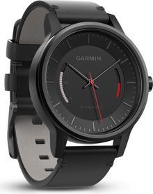 Garmin vivomove classic 010-01597-10 zegarek sportowy, skórzana opaska, kolor czarny
