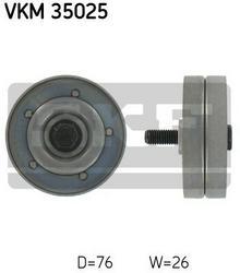 SKF rolka kierunkowa / prowadząca, pasek klinowy zębaty VKM 35025