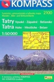 Kompass Tatra Vysoke Zapadne Belianske 1:50 000