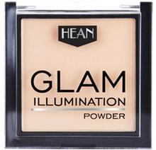 HEAN Glam, puder prasowany rozświetlający do twarzy, 5, 9 g