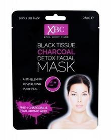 Xpel Xpel Body Care Black Tissue Charcoal Detox Facial Mask maseczka do twarzy 28 ml dla kobiet