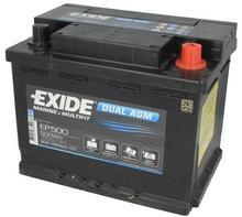 Exide DUAL AGM EP500 - 50Ah 680A P+