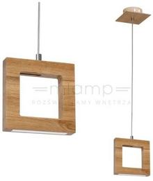 Milagro LAMPA wisząca DIEGO 596 drewniana OPRAWA zwis LED 4W ramka kwadratowa drewno 596
