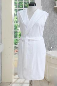 Soft Cotton DURU damski pluszowy szlafrok z kapturem M Biały 1111