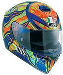 AGV K-3SV Five continents kask motocyklowy Sport termoplastu z Pinlock, niebiesko-pomarańczowy Żółty 0301A0EY_004_MS