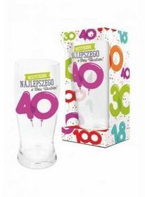 BGtech BALONIKI szklanka do piwa 500ml 40 urodziny 11901620/OP-059-021/PL-3362