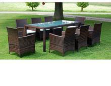vidaXL Zestaw mebli ogrodowych, 17 części, polirattan, brązowy