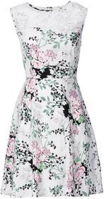 Bonprix Sukienka biały w kwiaty