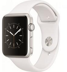Apple Watch 42 mm Stal / Pasek sportowy / Biały