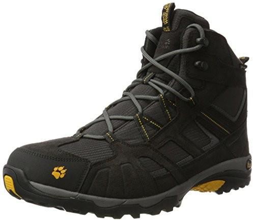 Jack Wolfskin Buty trekkingowe  dla mężczyzn, kolor: czarny (burly yellow 3800), rozmiar: 48 B0749P4JVJ