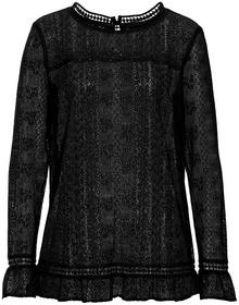 Bonprix Bluzka koronkowa czarny