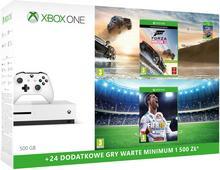 Microsoft Xbox One S 500 GB Biały + FIFA 18 + Forza Horizon 3 + 6M Live Gold