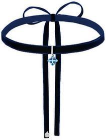 Granatowy choker z niebieskim krzyżem