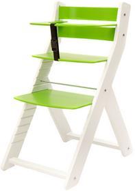 Wood Partner Krzesełko do karmienia UNIZE biało/zielony