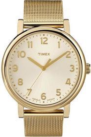 Timex bransoletka unisex zegarek analogowy zegarek kwarcowy stal nierdzewna T2N598