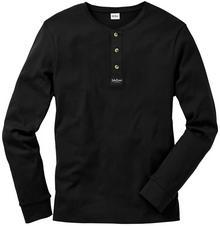 Bonprix Shirt z długim rękawem Regular Fit czarny