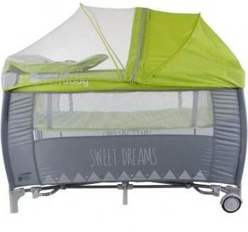 Sun Baby Łóżeczko z pełnym wyposażeniem Sweet Dreams zielone SD995/GZ