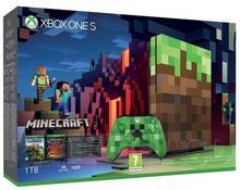 Microsoft Microsoft Konsola Xbox One S, 1 TB + Minecraft + 6 M Xbox Live Gold