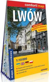 ExpressMap comfort! map Lwów laminowany kieszonkowy plan miasta praca zbiorowa
