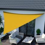 Jarolift Żagiel przeciwsłoneczny, trójkątny, z tkaniny wodoodpornej, żółty, 300x300x300 cm