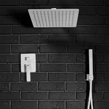 Rea Łazienka z wyobraźnią Zestaw prysznicowy natryskowy podtynkowy SONIC WHITE z wężęm i słuchawką