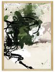 Dekoria Dekoria Plakat Abstract II 30 x 40 cm Ramka Złota 219A-000-29