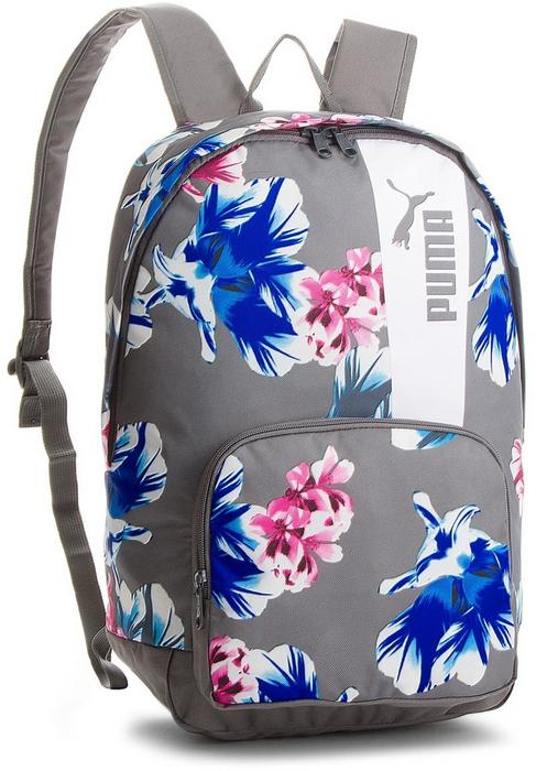 fd5973f70c3a4 Puma Plecak Core Style Backpack 075169 06 Steel Gray Flower Graphic - Ceny  i opinie na Skapiec.pl