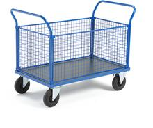 AJ Wózek platformowy 4 boki z siatki 1365x800 mm bez hamulców 73992