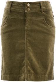 Bonprix Spódnica sztruksowa zielony khaki