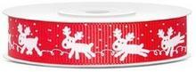 Tasiemka rypsowa Rudolf 15mm/10m - czerwona