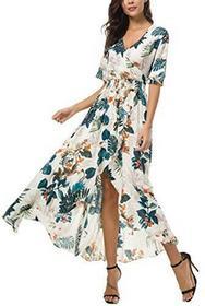 42584a2f8b -27% Boho kormei damska sukienka letnia sukienka elegancka Maxi kwiaty na  plażę sukienki na imprezę - l
