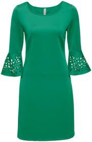 Bonprix Sukienka z wycięciami zielony
