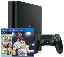 Sony Playstation 4 Slim 500GB Czarny + To Jesteś Ty! + FIFA 18