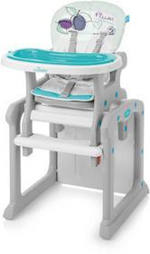 Baby Design Candy krzesełko do karmienia 2w1 turkusowe 05 śliwka wysyłka 24h + PREZENT Enova26234