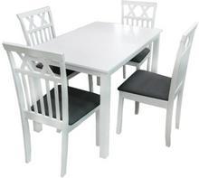 Lectus Zestaw stołowy Doran stół + 4 krzesła biały
