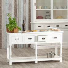 Dekoria Wyspa kuchenna Brighton 4 szuflady white 149x48x84cm 005-837