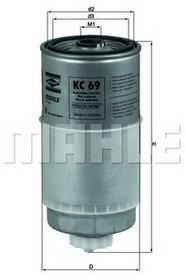 KNECHT Filtr paliwa KC 68