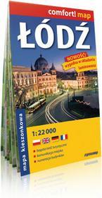 ExpressMap praca zbiorowa comfort! map Łódź. Kieszonkowy, laminowany plan miasta 1:22 000