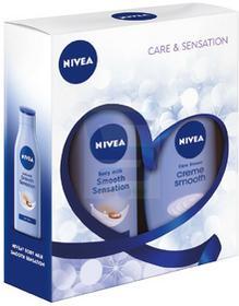 Nivea Care & Sensation Zestaw Żel pod prysznic + Wygładzajace mleczko do ciała