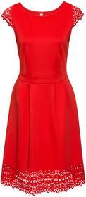 Bonprix Sukienka z wycięciami jasnoczerwony