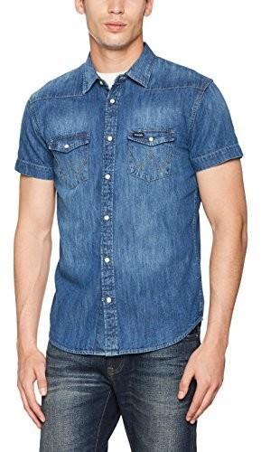 22c5e0a83d68e5 Wrangler męska koszula rekreacyjna Western koszulka, kolor: niebieski,  rozmiar: xx-large
