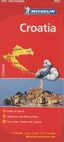 Chorwacja Mapa w skali 1:750 000 Michelin