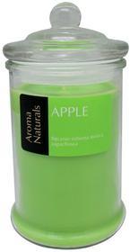EMPIK Sp. z o.o. Świeca zapachowa w szkle, Apple, zielona, 18,5 cm