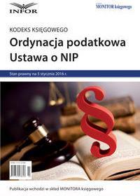 Ordynacja podatkowa ustawa o nip - mamy na stanie, wyślemy natychmiast