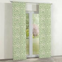 Dekoria Zasłony panelowe 2 szt. zielono kremowe wzory na kremowym tle 60 x 260 cm Urban Jungle 350-141-62