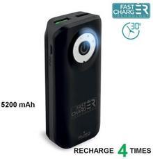 PURO Powerbank Fast Charger 5200 mAh 2 x USB 2.4A FCBB52C4BLK) Czarny Fast Charger 5200 mAh 2 x USB 2.4A FCBB52C4BLK)